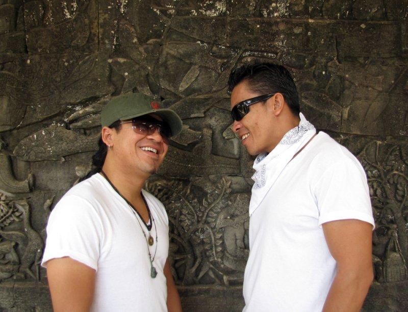 Tony and Sethi in Angkor Wat