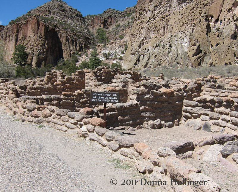 First the Anasazi built the Pueblo on the Floor of the Canyon