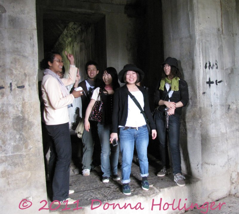 Tourists visiting Angkor Wat