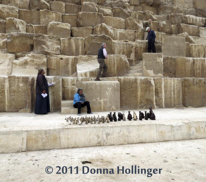Vendor at Pyramid of Cheops