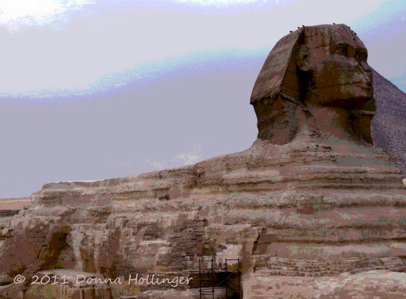 Sphinx with Khafre Pyramid