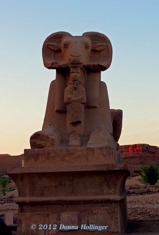 Ramshead Sphinx Represents Amun-Ra