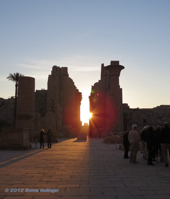 Sun Aligns With Entrance to Karnak