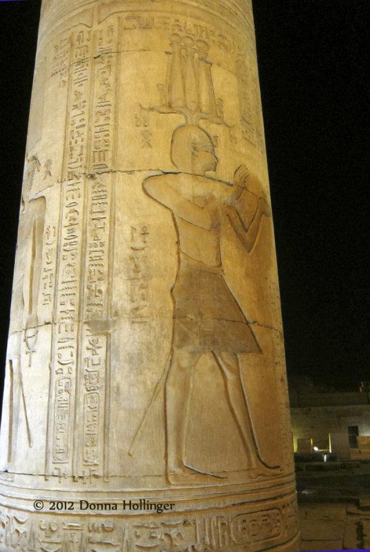 Hieroglyphs on the Columns