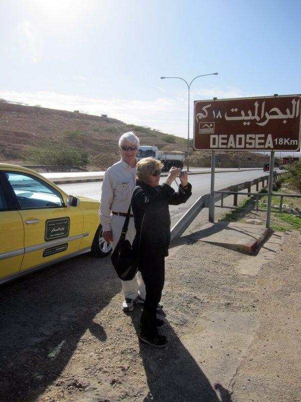 Linda and Bob taking a snap