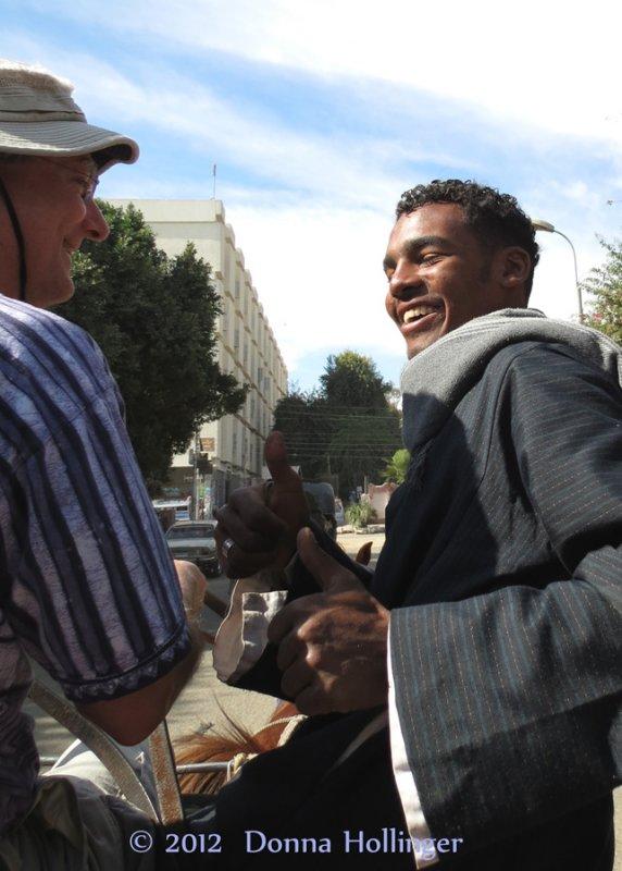 Mustafa handing over the reins to Peter
