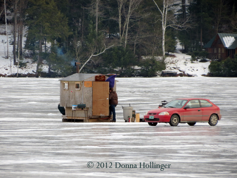 Ice Fishing At Lake Fairlee