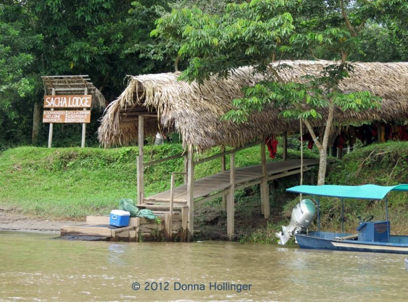 Changing Boats on the Napo River