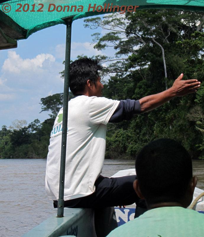 Pablo guiding the boat