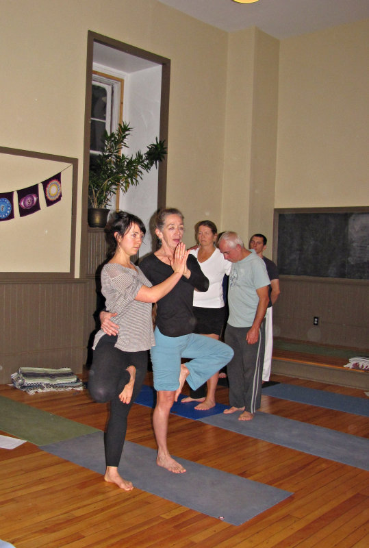 Linda and Kia Balance in Yoga