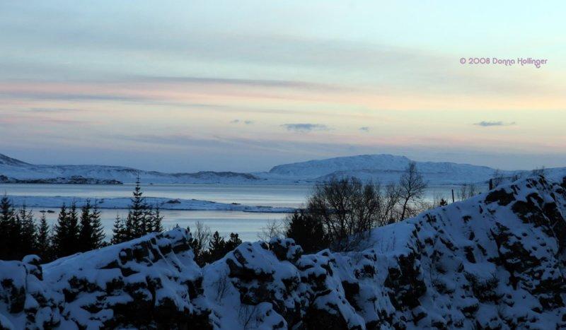 Vista from Þingvellir