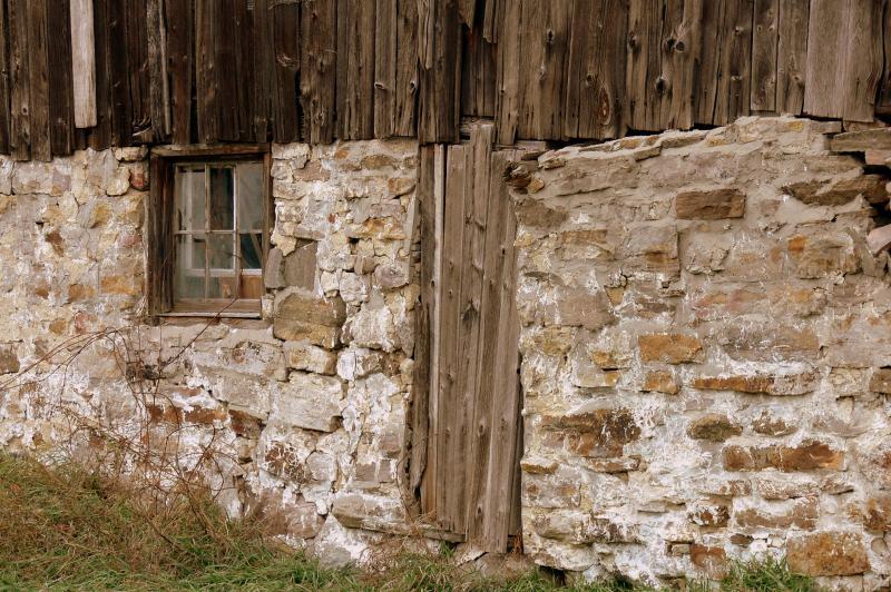 Barn door in rural Ontario