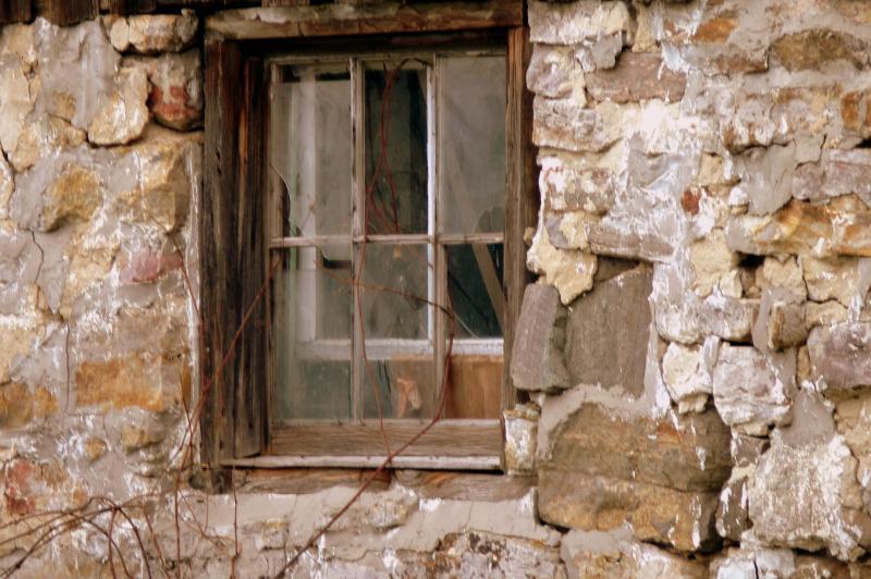 Window in an old barn...