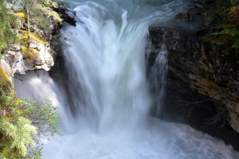 The lower falls at Johnston Canyon, Banff Nat. Park, Alberta