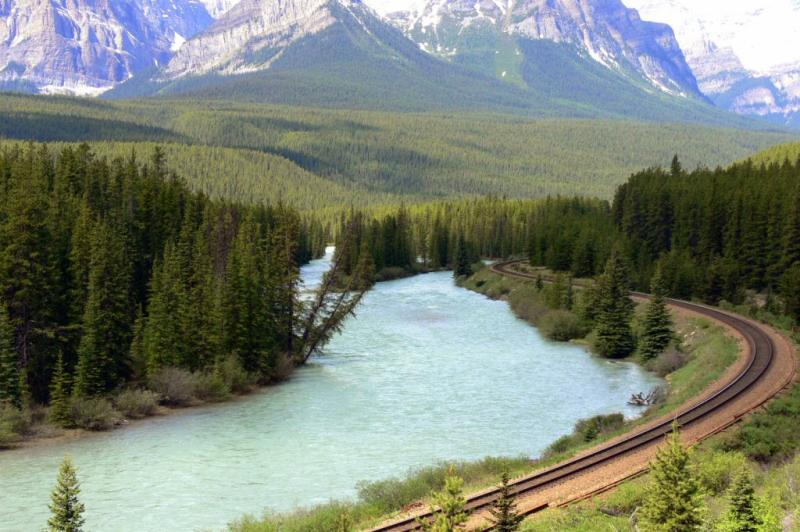The Bow River, Banff Alberta