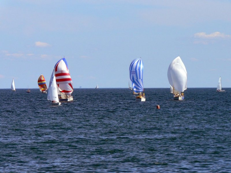 Sailing on Lake Ontario at Oakville...