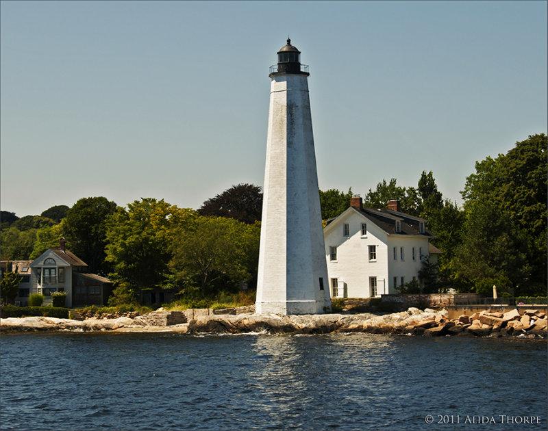 NewLondon white lighthouse