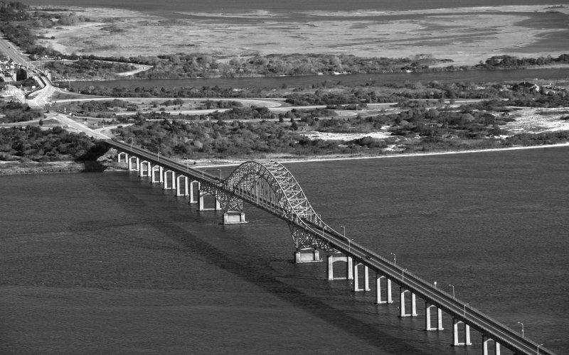 Robert Moses Bridge BW