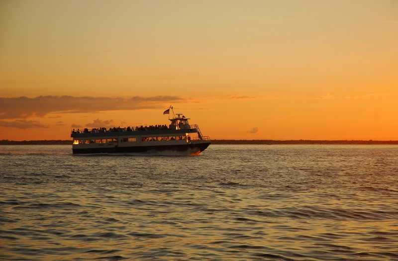 Ferry Returns at Sunset