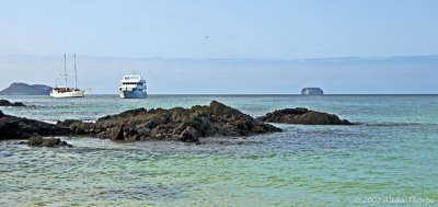 two boats, Galapagos Islands