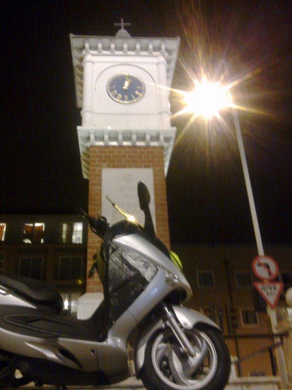 Beside  the  Millenium  Clock.