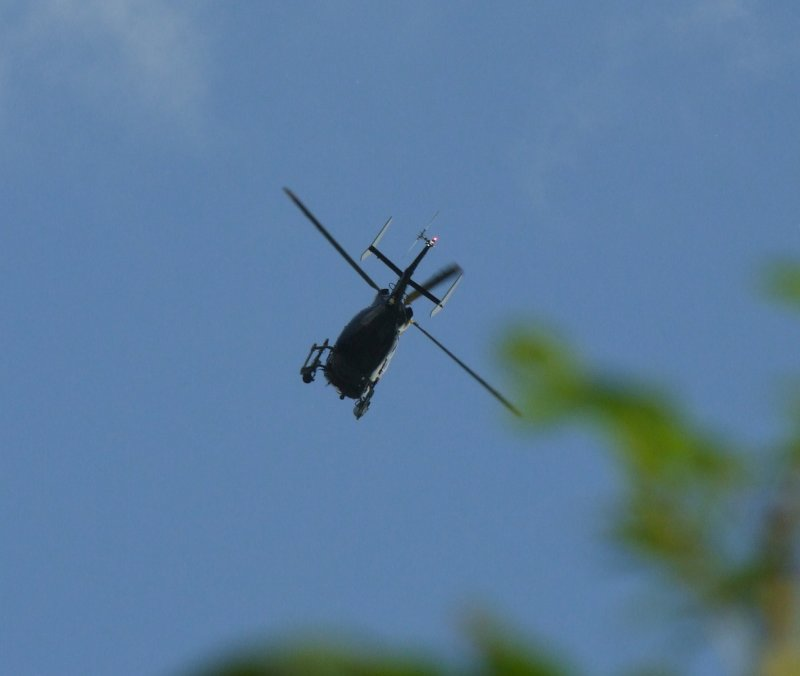 Police  Helicopter  overhead