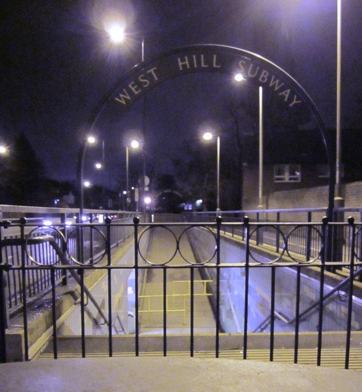 West  Hill  subway, southside  entrance.