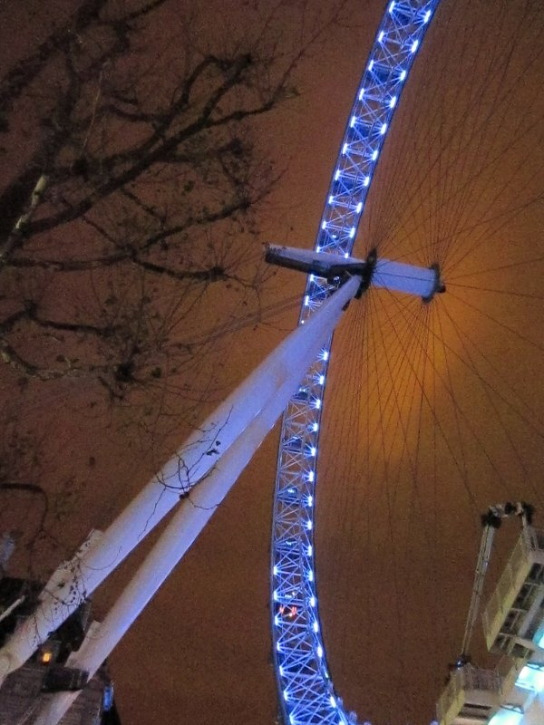 The  London  Eye, whilst  lying  on  my  back.
