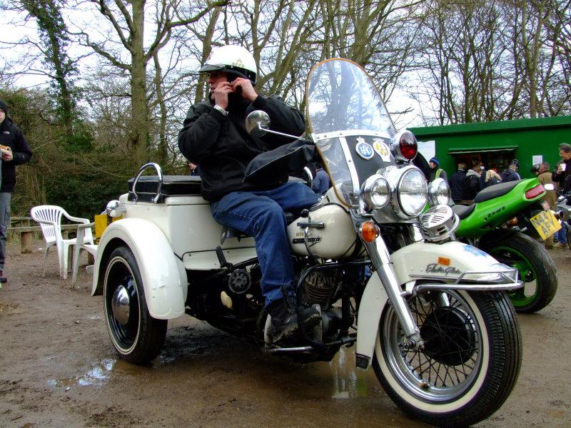 Harley  Davidson  Electra  Glide  trike, S.F.P.D. vintage.