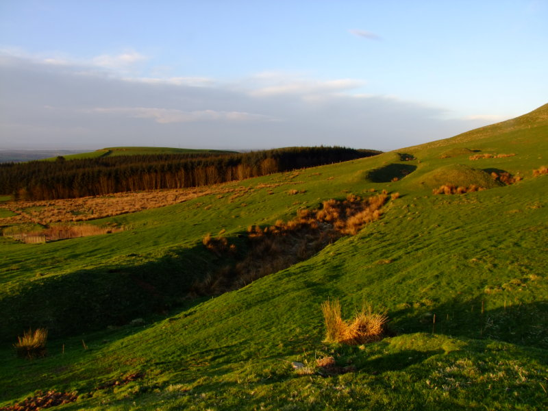 Burnswark : The  Roman  Camp  on  the  southern  slopes.