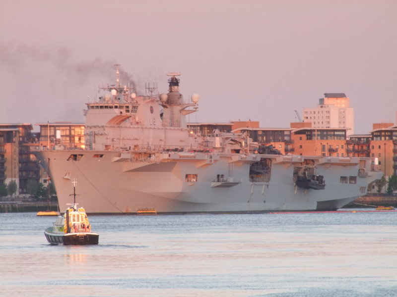 Hms  Ocean, in  the  dawn  light.