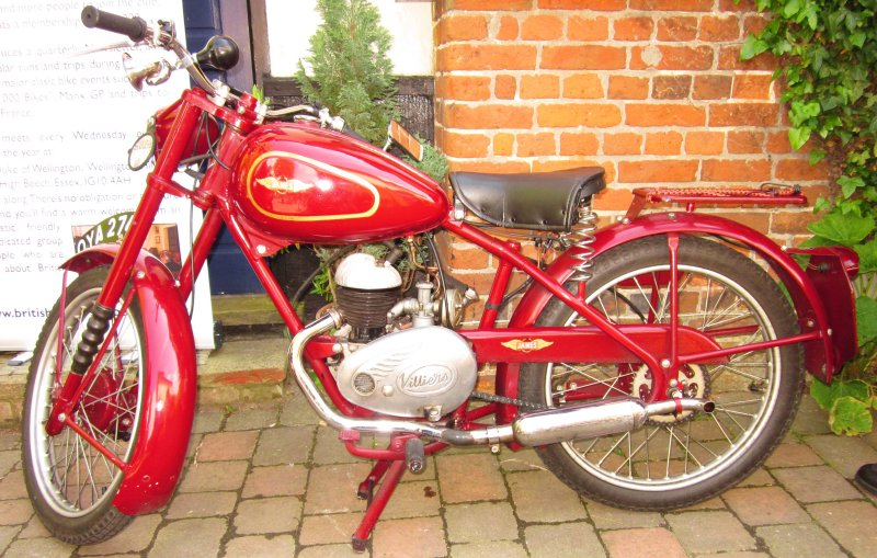 A James motorcycle, with a Villiers engine.