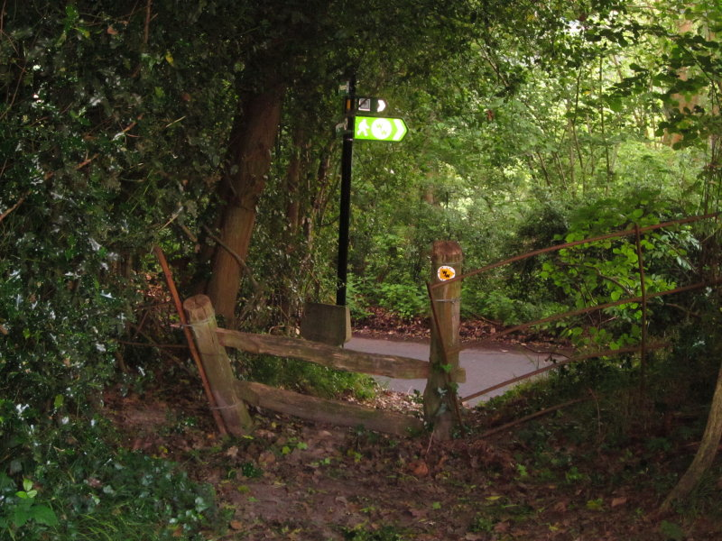 The  stile  out  onto  Stockland  Green  Road.