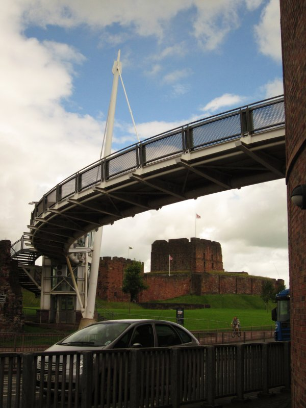 Carlisle  Castle, beneath  Millenium  Bridge.