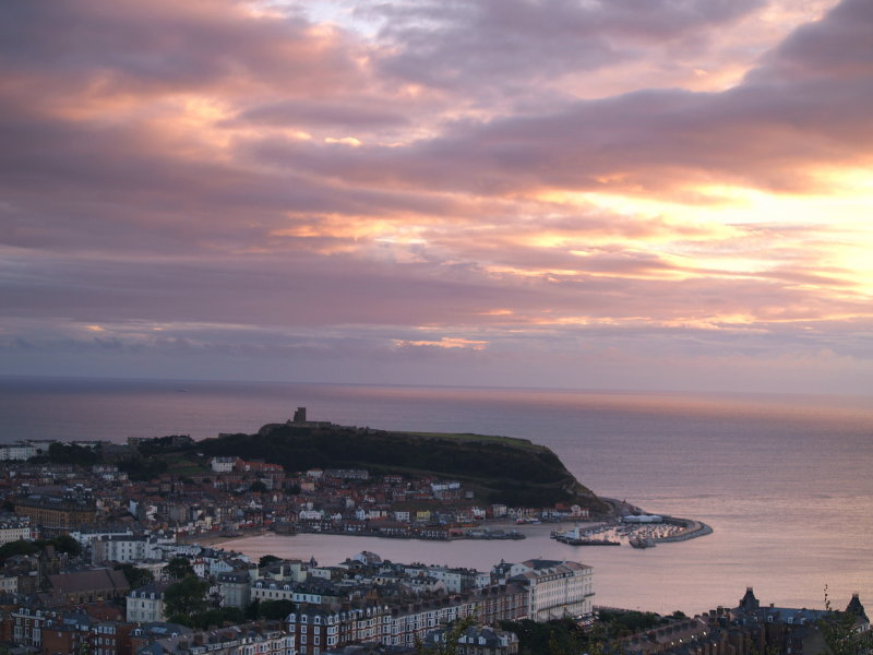 Daybreak over old Scarborough town