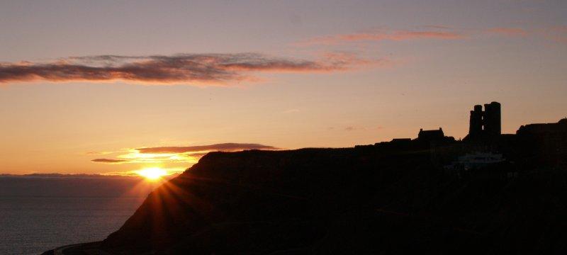 Dawn at Scarborough Castle
