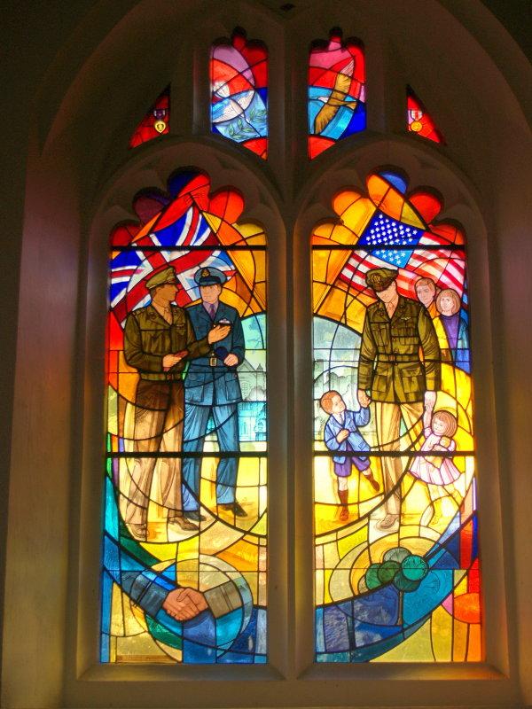 Window of friendship and peace,Little Easton Parish Church.