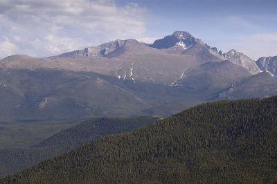View of Longs Peak from Many Parks Curve