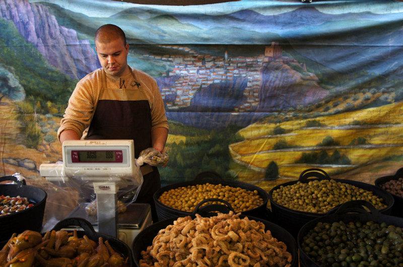 vendedor de olivas