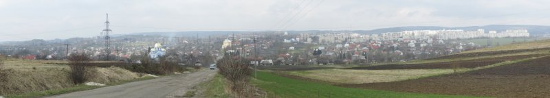 panorama looking north toward town