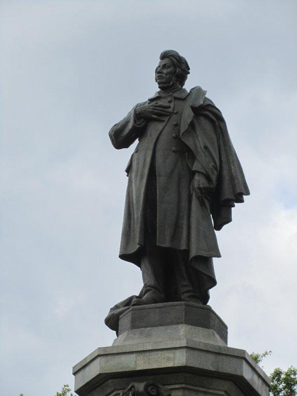 the monument to Adam Mickiewicz, Polands romantic poet