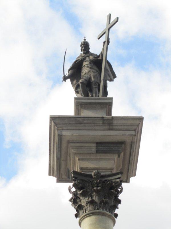 old King Zygmunt keeping watch