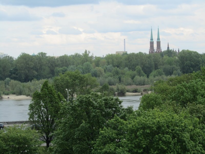 ...overlooking the Vistula