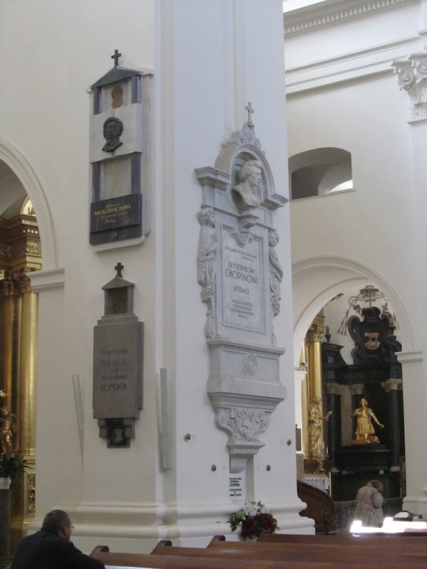 ...where Chopins heart is entombed in this pillar