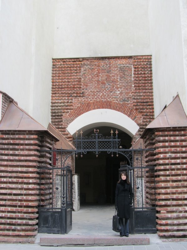 the entrance is plain compared to the interior