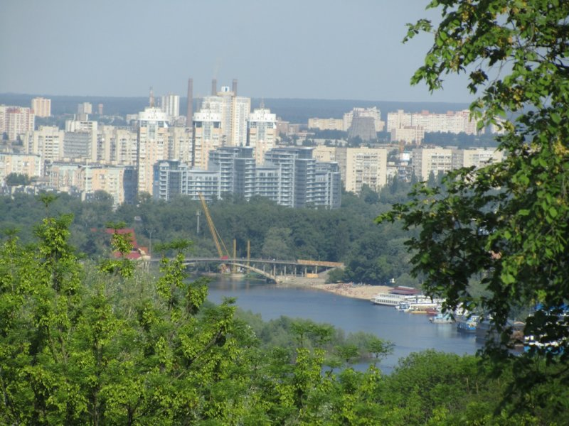 a view over the Dnipro river