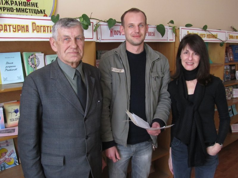 ...and Mr. Vorobets, town historian and a key resource for links to Rohatyns Jewish past