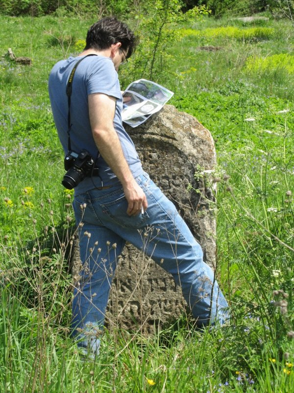 back in the old cemetery, documenting the existing stones