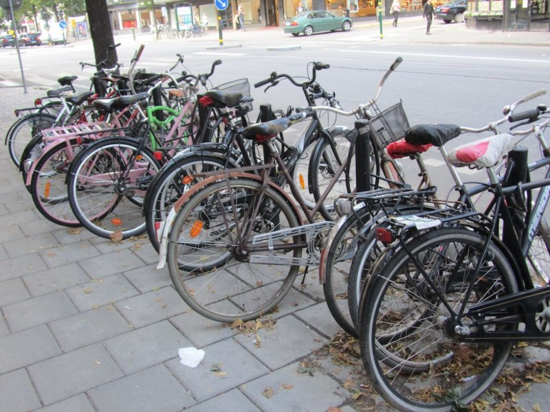 there are bicycles all over town; youll see them in later photos