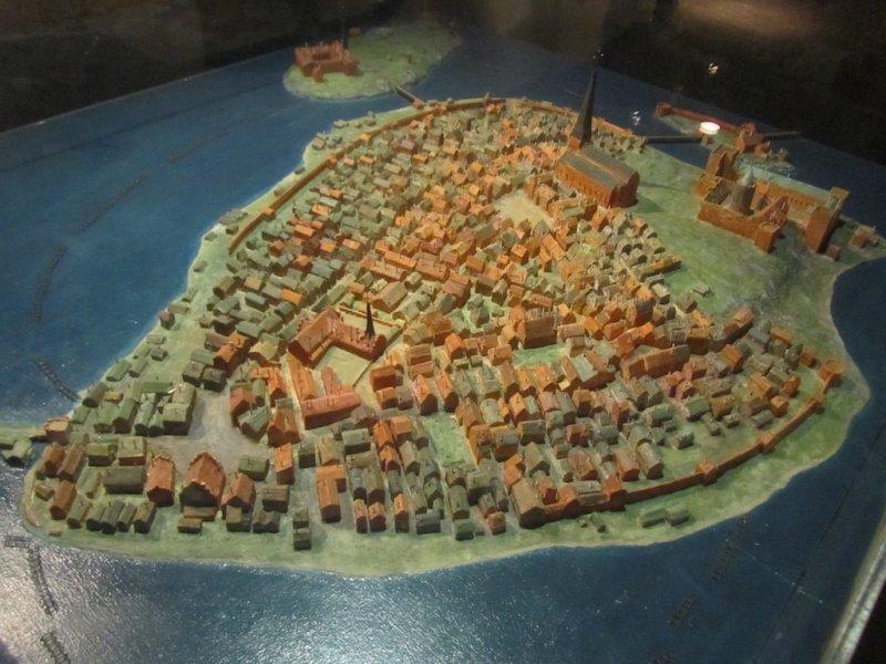 a model of Gamla Stan, where Stockholm began